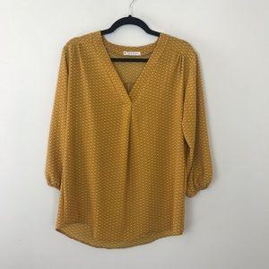 Mustard tunic blouse